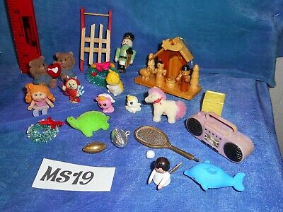 Vintage Dollhouse Doll House Furnishings Lot: Toys, Cabbage Patch, Creche MS19