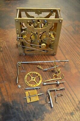 Antique German Cuckoo Clock Pined Movement 50 Hours For Parts Or Repair