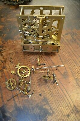 Antique Rare Cuckoo Clock Pined 8 Day Spring Driven Movement For Parts Or Repair
