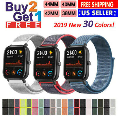 Woven Nylon Band Apple Watch 38/40/42/44mm Sport Loop Watch Series 5 4 3 2 1