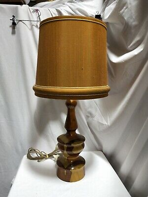 Vintage/Retro Mid Century Lamp with Brown Shade