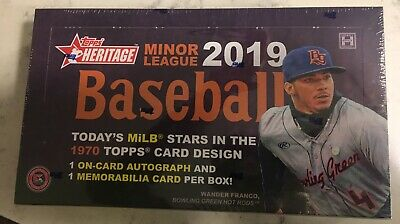 2019 Topps Heritage Minor League Baseball Factory Sealed Hobby Box Wander Franco