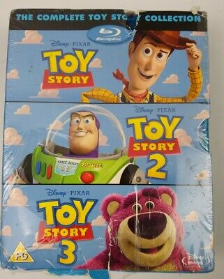 The Complete Toy Story Collection (Blu-ray Disc, 2012, 4-Disc Set)