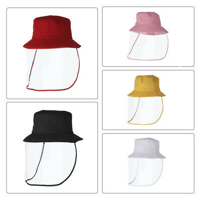 Kids Removable Face Shield Sun Protection Anti Dust Anti Pollution Outdoor Hat