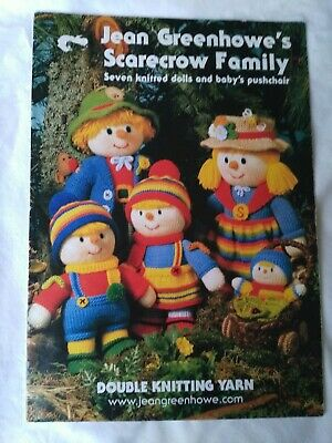 Jean Greenhowe Knitting Pattern Book - SCARECROW FAMILY