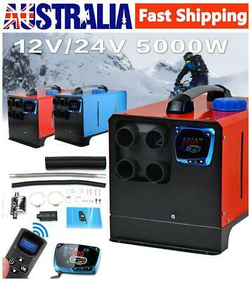 All in One 5KW Four Holes Air Diesels Parking Heater LCD Car Heater with RC AU