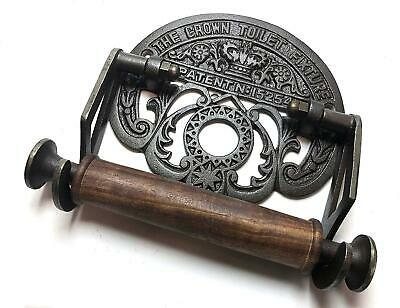 Traditional Crown Vintage Design Victorian Wall Mounted Toilet Loo Roll Holder