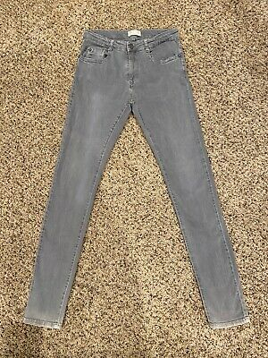 Zara Boys Collection Womens Skinny Jeans Gray Size 26x31 Vintage EUC!