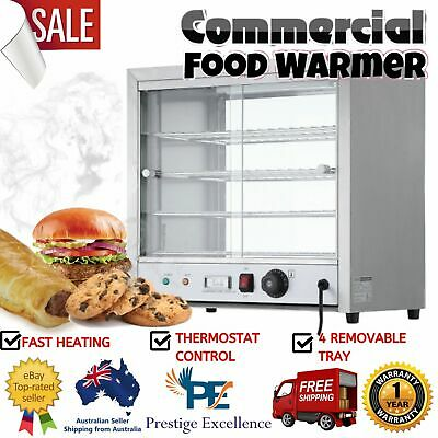 Commercial Food Warmer Stainless Steel Devanti Buffet Display Showcase Cabinet