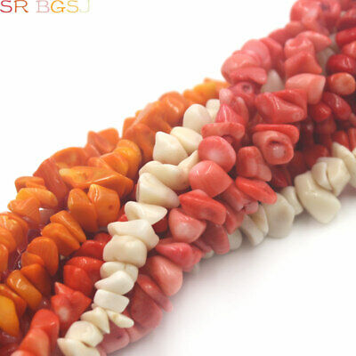 """Natural Freeform Sea Bamboo Coral Chips Gemstone Jewelry Beads Strand 34"""" 7-10mm"""