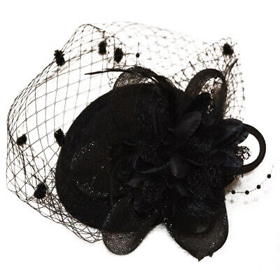 Ladies Women Clip Pin Veil Fascinator Hat Occasion Wedding Races Ascot Headband