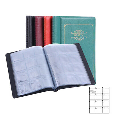 120 Pockets Coin Album Penny Money Storage Book Case Holder Folder Collection