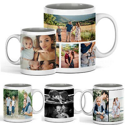Personalised Mug Cup Custom Photo Text Collage Birthday Mothers Day Mug Gift