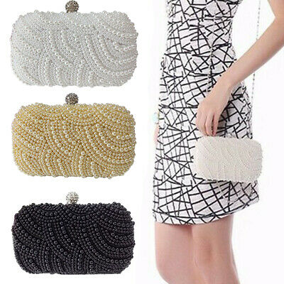 Women Clutch Bag Artificial Pearl Evening Party Purses Cosmetic Handbag Fashion