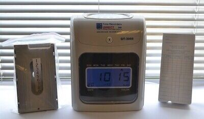 """LARGE STOCK"" Time Recorder Clocking in Clock Machine, Time Cards and Card Rack"""