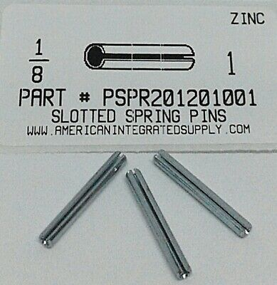 "1/8X1"" Slotted Spring Pin Steel Zinc Plated (40)"