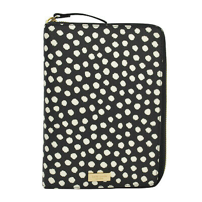 NWT Kate Spade Laurel Way Spot Dot Personal Organizer Planner Black White