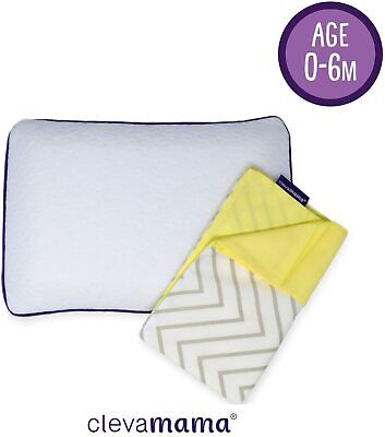 Clevamama Clevafoam Pram Pillow + Pillowcase Grey
