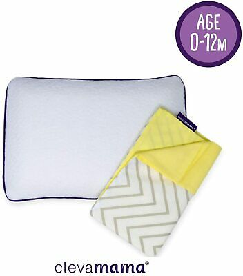 Clevamama Clevafoam Baby Pillow with Replacement Pillow Case (Grey)