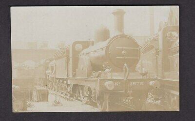 Railway GNR 872 at Kings Cross? pre1919 real photo PPC by Pouteau - over exposed