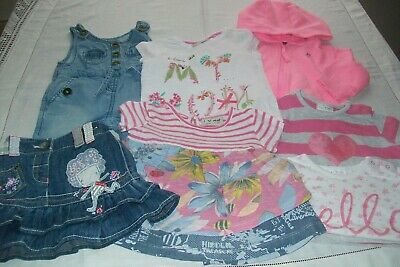 Baby girls small bundle from Next with tops, jacket & dungarees aged 3-6 months
