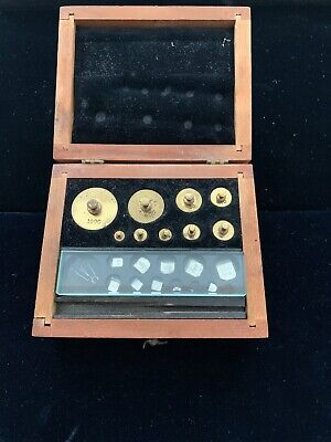 Vintage Antique Apothecary Scale with Grain & Fractional Weights Set Brass