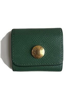 Authenti Hermes mini Note Pad Sticky Note Green Epson Leather RARE