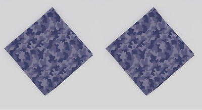 Bar III Indigo Camouflage Printed Pocket Square