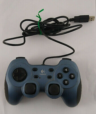 PC Controller Logitech Rumblepad 2 Wired Gamepad Computer Game USB Vibration