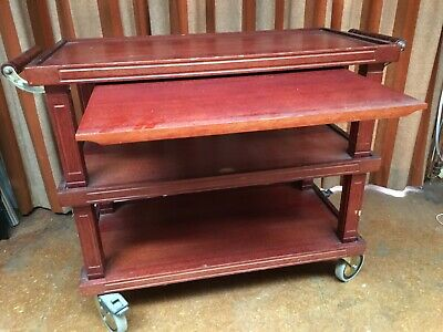 Dumb Waiter ,3 Shelf Plus Pull Out Tray Under Top Shelf