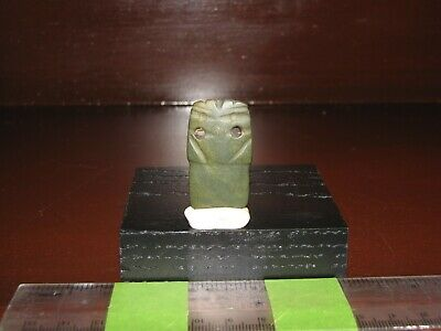 Pre Columbian, Jade, Costa Rican, Choice Axe God, Necklace Pendant Bead E/L-P/C