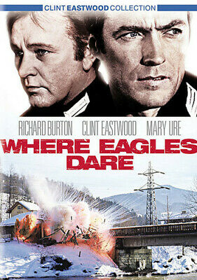 Where Eagles Dare (DVD, 2003, Clint Eastwood Collection; Widescreen) NEW
