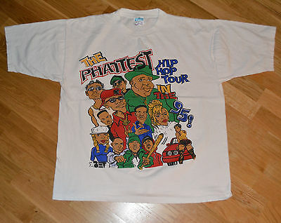 1995 NOTORIOUS B.I.G / NAUGHTY by NATURE vtg concert shirt XL Craig Mack Diddy