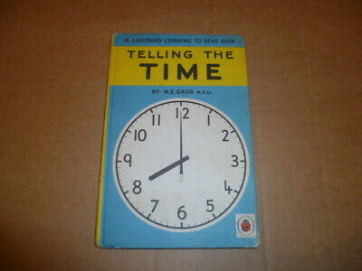 LADYBIRD BOOK Telling the Time by M.E. Gagg (Hardback, 1962)