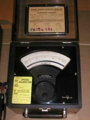 SENSITIVE RESEARCH INSTRUMENT CORP. ELECTROSTATIC VOLTMETER 5.0 kV