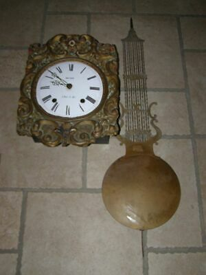 Old comtoise movement + lyre pendulum D 27cm  ringing: bell