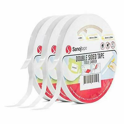 Sanojtape Double Sided Mounting Tape (3-Pack) 9mm x 20m | General x