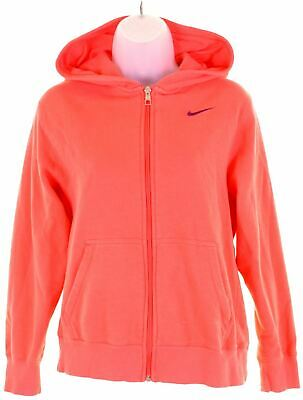 NIKE Girls Hoodie Sweater 12-13 Years Large Pink Cotton  GL13