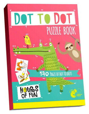BORED CHILDREN HOME OFF SCHOOL 140 Page A4 DOT to DOT Activity BOOK KIDS PUZZLES