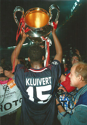 Patrick Kluivert Ajax Signed 12 x 8 inch authentic football photograph SS861