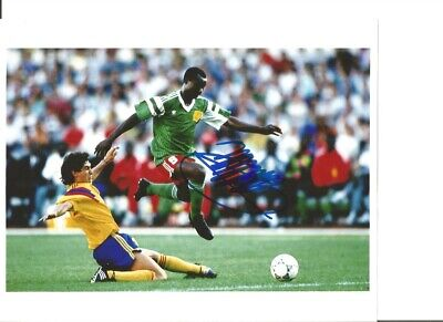 Roger Milla Cameroon Signed 10 x 8 inch authentic football photograph SS876A