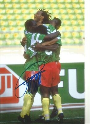 Roger Milla Cameroon Signed 10 x 8 inch authentic football photograph SS876D