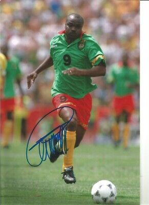 Roger Milla Cameroon Signed 10 x 8 inch authentic football photograph SS876J