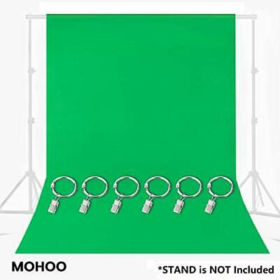 Green Screen Chromakey Muslin Backdrop 6 Ring Metal Holding Clips Solid Color