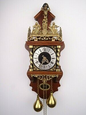Zaanse Dutch Vintage Warmink Wuba Wall Clock 8 day (Junghans Hermle Kienzle Era)
