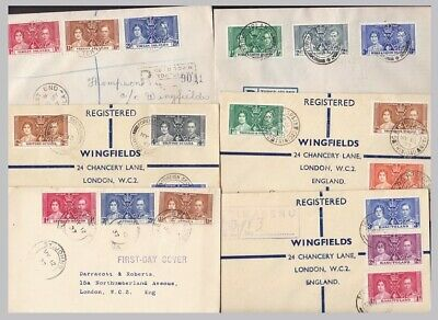 1937 KGVI Coronation FDCs  - priced & sold individually - clean good to fine