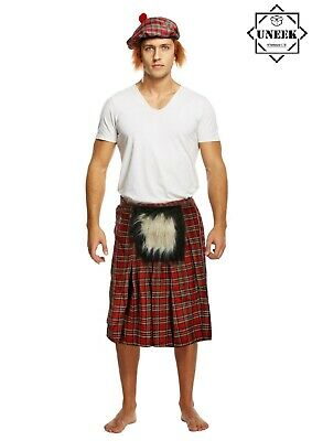 Mens Flashing Scotsman Scottish Stag Do Night Funny Fancy Dress Costume Outfit