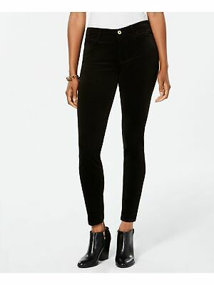TOMMY HILFIGER $59 Womens New Black Corduroy Skinny Pants 4 B+B