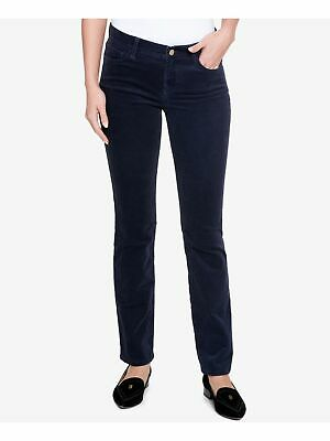 TOMMY HILFIGER $80 Womens New 2593 Navy Straight Leg Pants 2 B+B