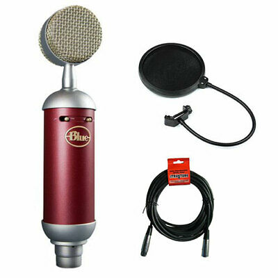 Blue Spark SL Diaphragm Studio Condenser Microphone with XLR Cable & Pop Filter